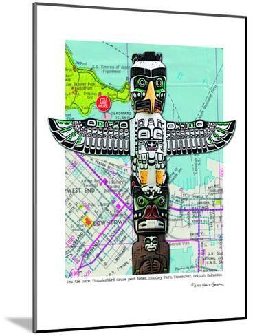 Totem Vancouver--Mounted Art Print