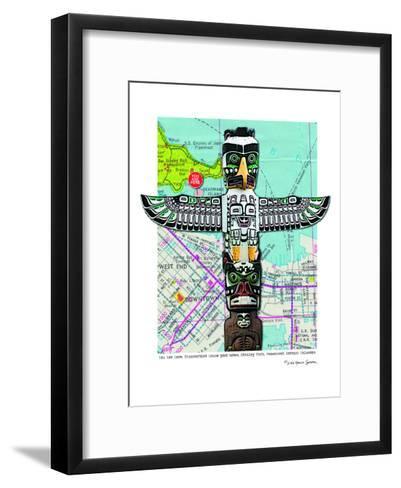Totem Vancouver--Framed Art Print