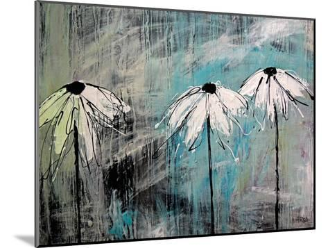 Three Fleurs Blanches-Annie Rodrigue-Mounted Art Print