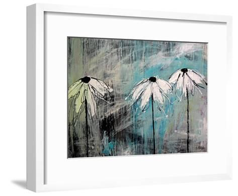 Three Fleurs Blanches-Annie Rodrigue-Framed Art Print