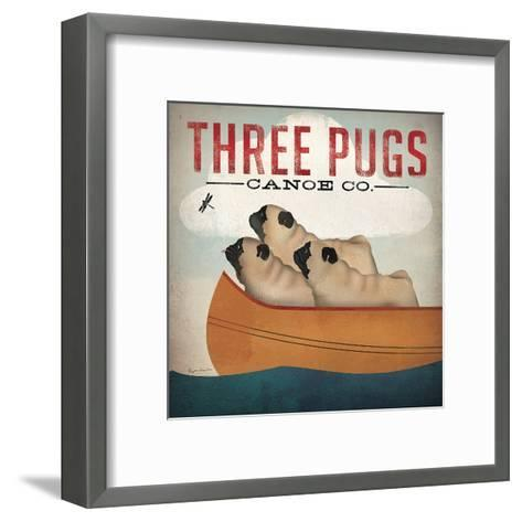 Three Pugs-Wild Apple Portfolio-Framed Art Print