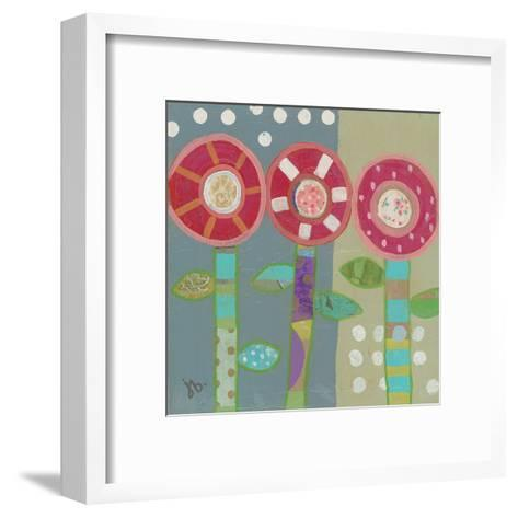 Trio Of Red Flowers-Julie Beyer-Framed Art Print