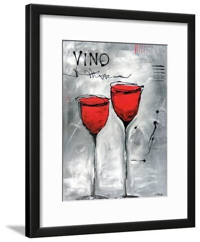 Vino 2-Annie Rodrigue-Framed Art Print