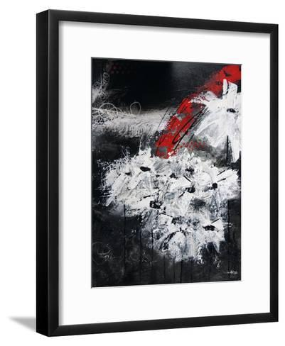 White And Red Flowers-Annie Rodrigue-Framed Art Print
