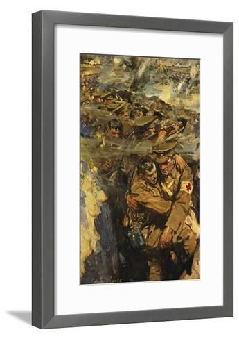 The Red Cross in the Trenches-Cyrus Cincinnati Cuneo-Framed Art Print