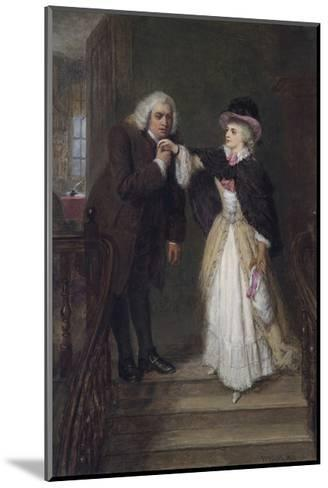 Dr. Johnson and Mrs Siddons in Bolt Court-William Powell Frith-Mounted Premium Giclee Print