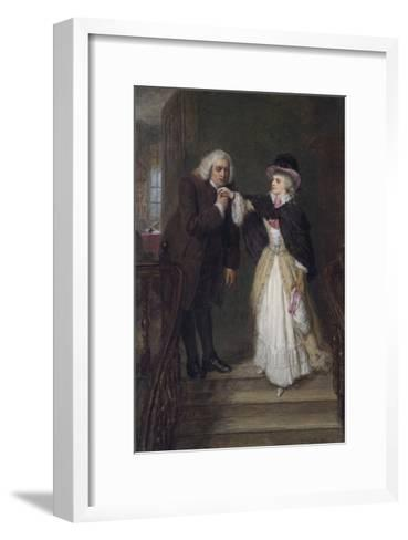 Dr. Johnson and Mrs Siddons in Bolt Court-William Powell Frith-Framed Art Print