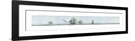 The Coast of France Around Brest, 1801 - Detail A-John Thomas Serres-Framed Art Print