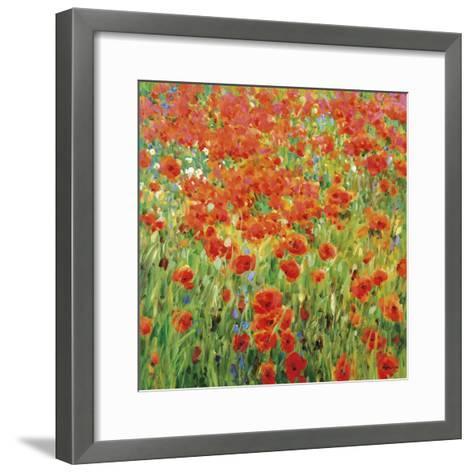 Meadow Drift-Malva-Framed Art Print