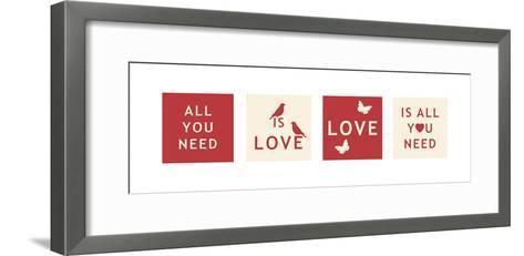 Words of Kindness VI-The Vintage Collection-Framed Art Print