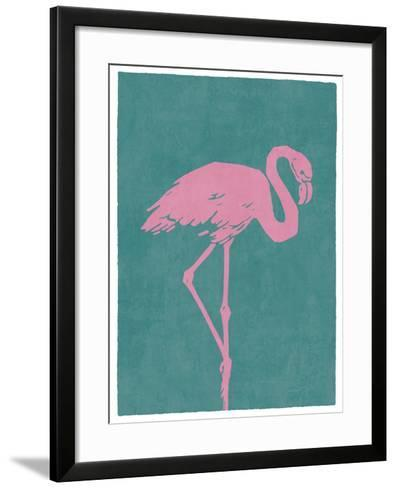Flamboyant Flamingo-Clara Wells-Framed Art Print