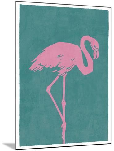 Flamboyant Flamingo-Clara Wells-Mounted Giclee Print