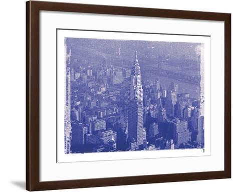 New York City In Winter IV In Colour-British Pathe-Framed Art Print