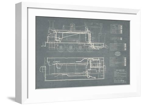 Layout for Tank Engines II-The Vintage Collection-Framed Art Print