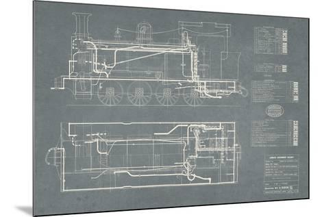 Layout for Tank Engines II-The Vintage Collection-Mounted Giclee Print
