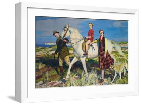 Four Loves I Found, a Woman, a Child, a Horse and a Hound-George Spencer Watson-Framed Art Print
