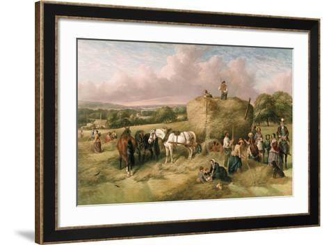 Haymaking-John James Wilson-Framed Art Print