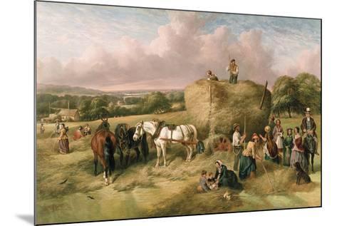 Haymaking-John James Wilson-Mounted Giclee Print