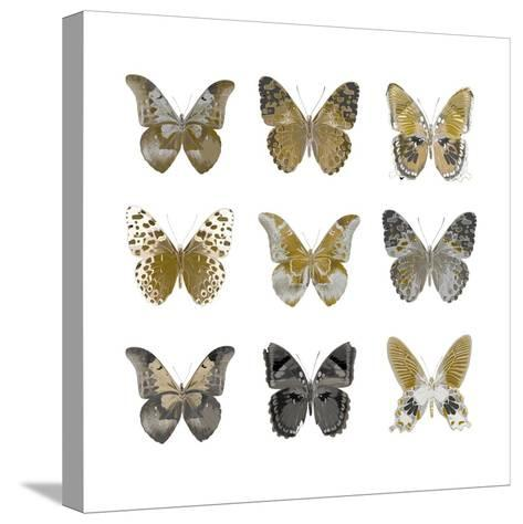 Butterfly Study in Gold I-Julia Bosco-Stretched Canvas Print