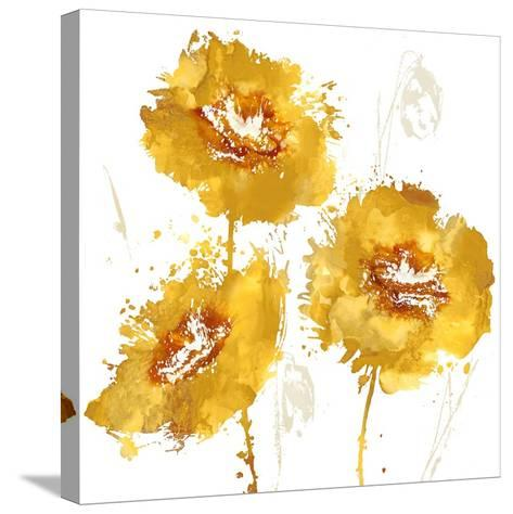Flower Burst Trio in Amber-Vanessa Austin-Stretched Canvas Print