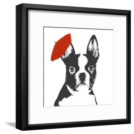 Red Beret Dog-Sd Graphics Studio-Framed Art Print