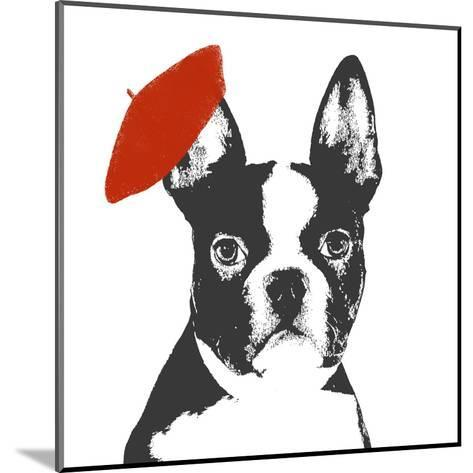 Red Beret Dog-Sd Graphics Studio-Mounted Art Print