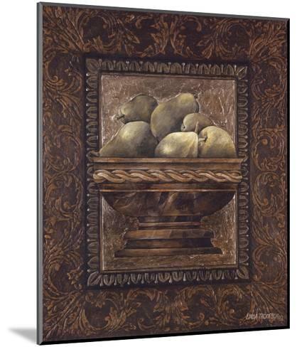 Rustic Bowl of Pears-Linda Thompson-Mounted Art Print