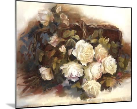 White Roses in Basket-Andrea Dern-Mounted Art Print