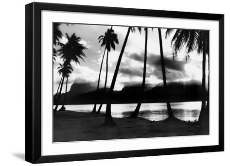 Sunset at Raiatea, French Polynesia-Alexis De Vilar-Framed Art Print