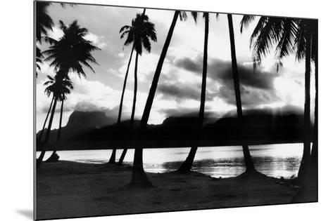 Sunset at Raiatea, French Polynesia-Alexis De Vilar-Mounted Art Print