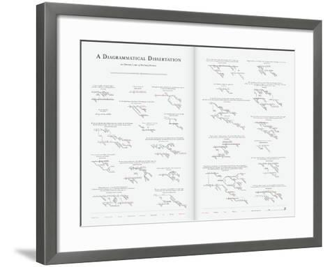 A Diagrammatical Dissertation on Opening Lines of Notable Novels-Pop Chart Lab-Framed Art Print