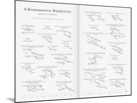 A Diagrammatical Dissertation on Opening Lines of Notable Novels-Pop Chart Lab-Mounted Art Print