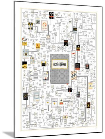 A Plotting of Fiction Genres-Pop Chart Lab-Mounted Art Print