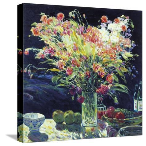 Still Life with Fruits-Malva-Stretched Canvas Print
