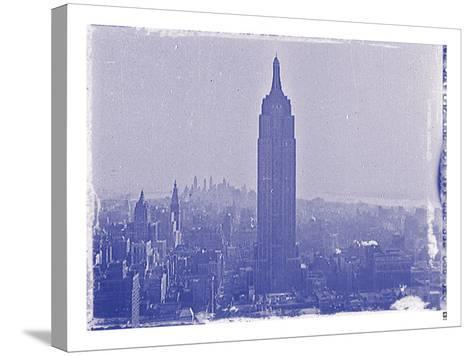 New York City In Winter VII In Colour-British Pathe-Stretched Canvas Print