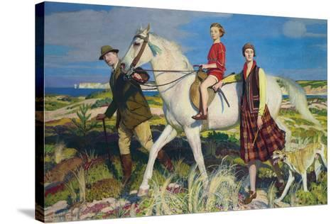 Four Loves I Found, a Woman, a Child, a Horse and a Hound-George Spencer Watson-Stretched Canvas Print
