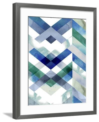 Crystal Chevron II-Grace Popp-Framed Art Print