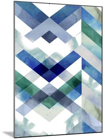 Crystal Chevron II-Grace Popp-Mounted Giclee Print