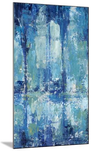 Blue Reflection Triptych II-Tim O'toole-Mounted Art Print