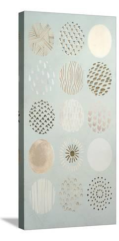 Metallic Foil Playful Patterns I-June Erica Vess-Stretched Canvas Print