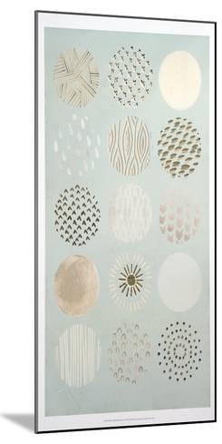 Metallic Foil Playful Patterns I-June Erica Vess-Mounted Art Print