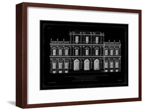 Vintage Facade Blueprint I-H^ Hulsburgh-Framed Art Print