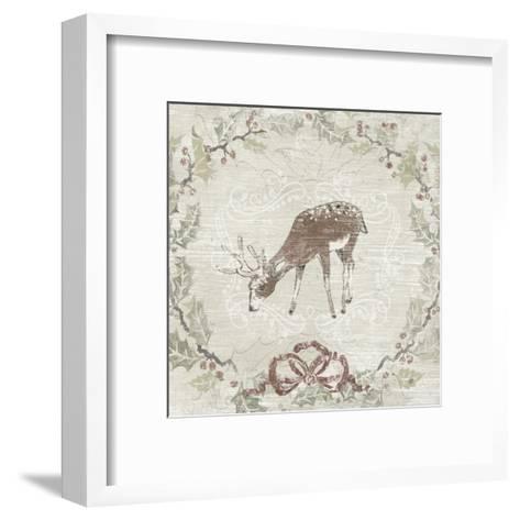 Cabin Christmas VI-June Erica Vess-Framed Art Print