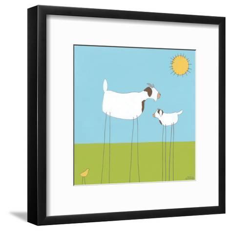 Stick-leg Goat I-June Erica Vess-Framed Art Print