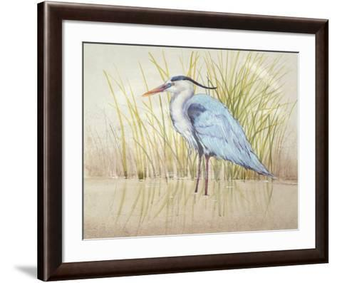 Heron & Reeds II-Tim O'toole-Framed Art Print