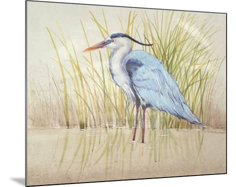 Heron & Reeds II-Tim O'toole-Mounted Art Print