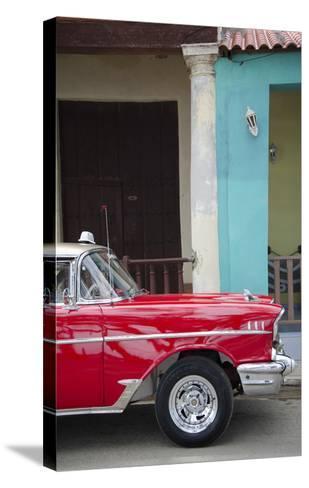 Cars of Cuba II-Laura Denardo-Stretched Canvas Print