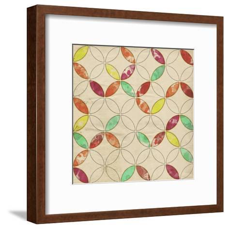 Geometric Color Shape I-Irena Orlov-Framed Art Print