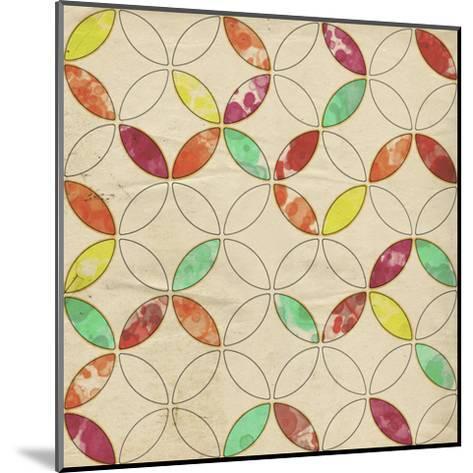 Geometric Color Shape I-Irena Orlov-Mounted Art Print
