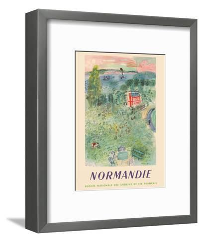 Normandie, France - SNCF (French National Railway Company)-Raoul Dufy-Framed Art Print